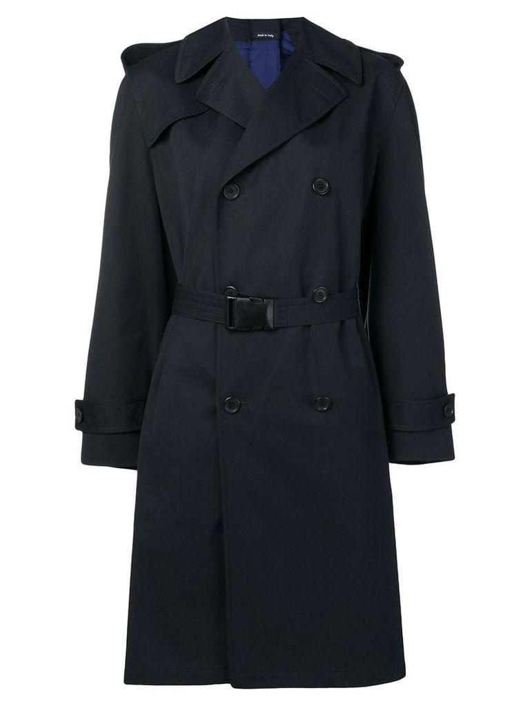 Maison Margiela buckled belt trench coat - Blue