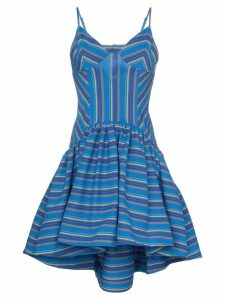 Rosie Assoulin flared stripe print dress - Blue