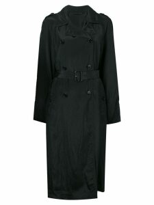 Helmut Lang double-breasted trench coat - Black