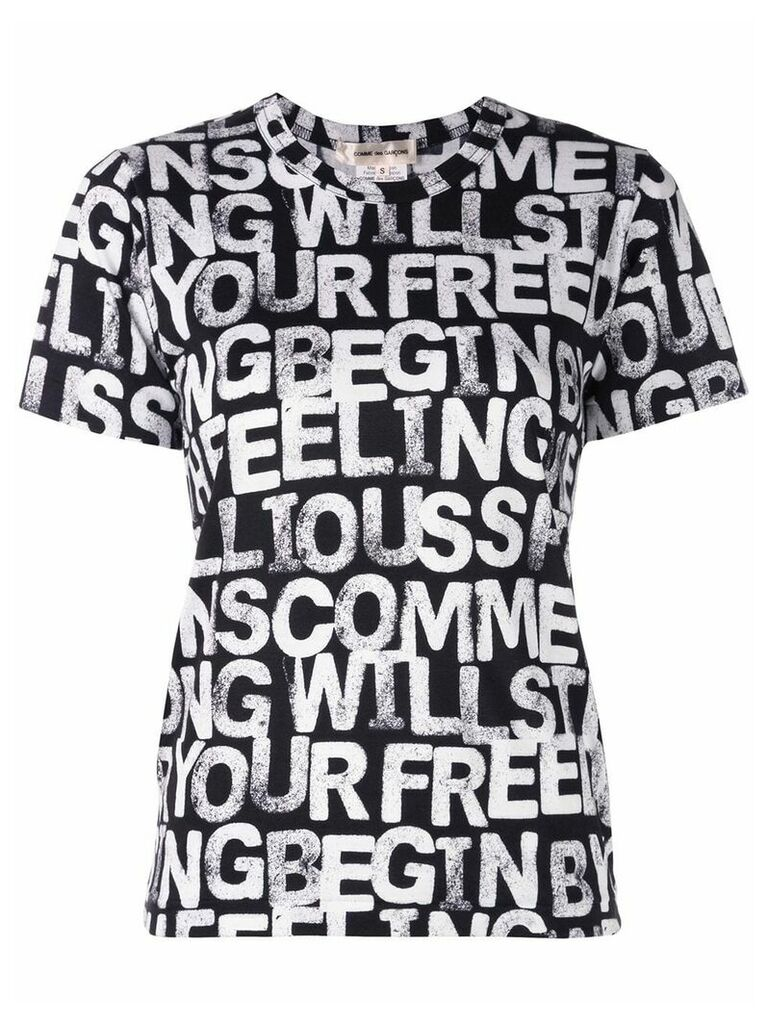 Comme Des Garçons C Pattern Dying T-shirt - Black