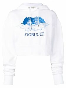 Fiorucci Heaven Angels crop hoodie - White