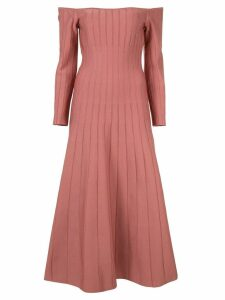 Casasola off-the-shoulder pleated dress - Pink