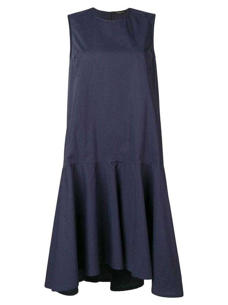 Roberto Collina ruffled hem midi dress - Blue