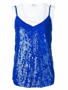 P.A.R.O.S.H. layered sequin top - Blue