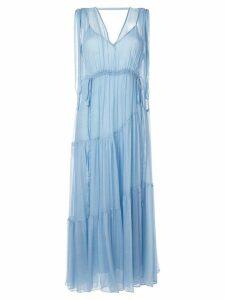 Lee Mathews Petra silk dress - Blue