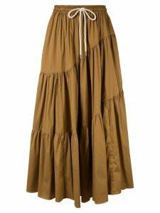 Lee Mathews Elsie Wave Skirt - Brown
