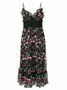 Giamba floral embroidered dress - Black