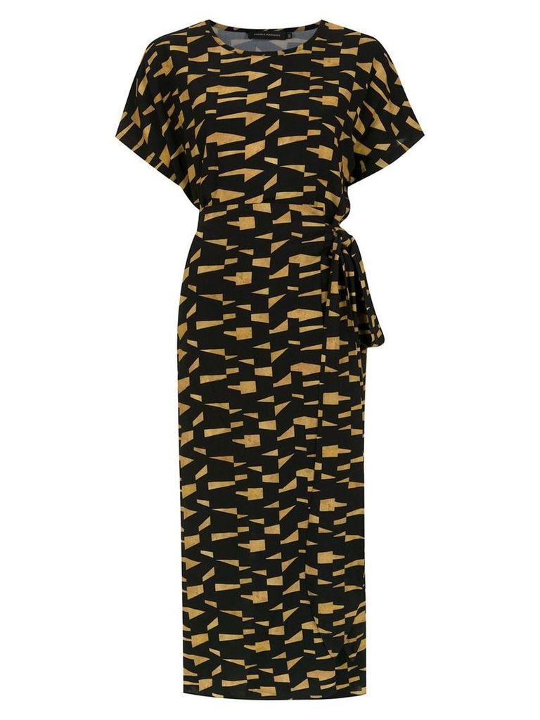 Andrea Marques printed dress - Black