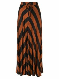 Lee Mathews Ingrid bias skirt - Brown