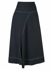 Lee Mathews Jackie asymmetric skirt - Blue