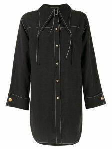 Rejina Pyo loose stitch shirt - Black
