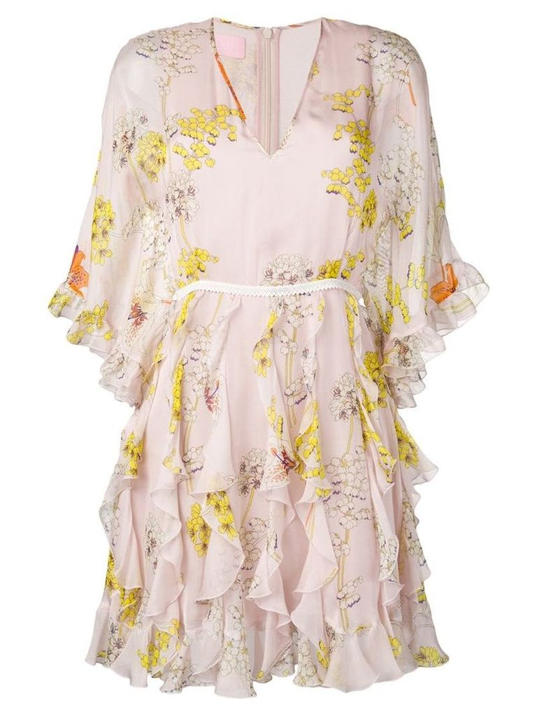 Giamba floral print dress - Neutrals