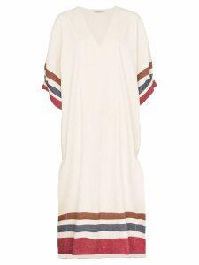 Three Graces Livietta striped dress - NEUTRALS
