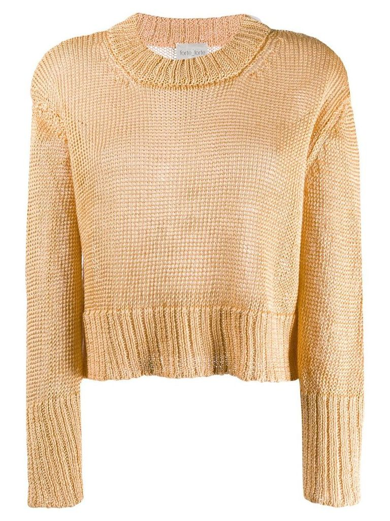 Forte Forte cropped chunky jumper - Yellow