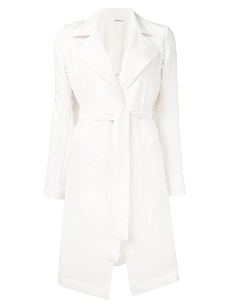 P.A.R.O.S.H. single-breasted belted coat - White