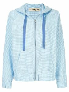 Jour/Né micro check zip hoodie - Blue
