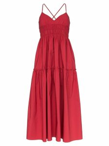 Three Graces Emma shirred midi dress