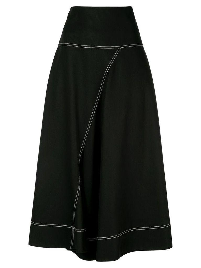 Lee Mathews Jackie asymmetric skirt - Black