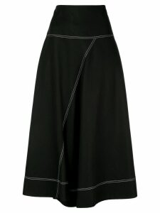 Lee Mathews Jackie asymmetric skirt - Black