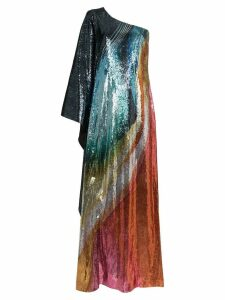 Mary Katrantzou Isole sequin one shoulder maxi dress - 022 Blown Glass