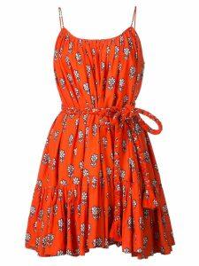 Rhode Resort belted floral dress - Red
