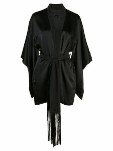 Kiki de Montparnasse belted kimono robe - Black