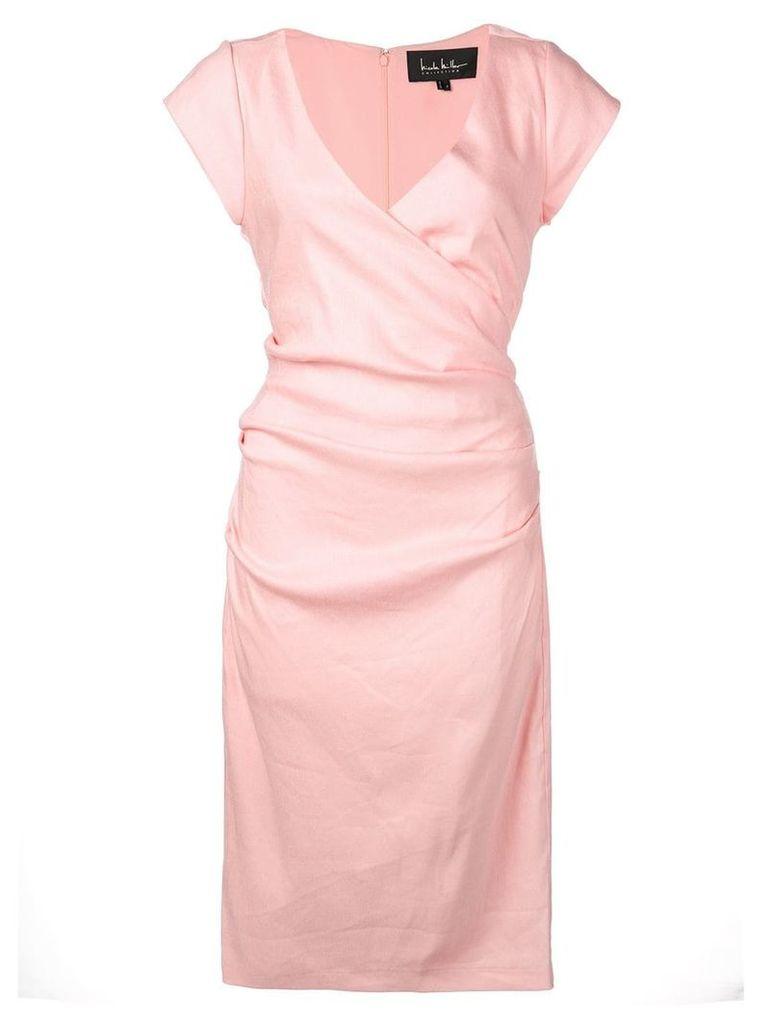 Nicole Miller wrap-front short dress - Pink