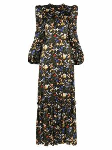 The Vampire's Wife Nine floral print tiered maxi dress - Black