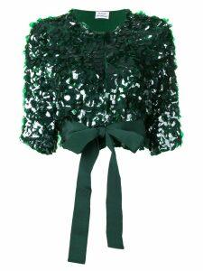 P.A.R.O.S.H. cropped Glen jacket - Green