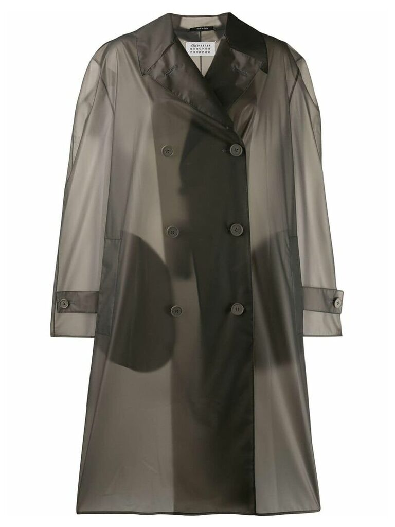 Maison Margiela double-breasted raincoat - Grey