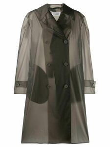 Maison Margiela double-breasted raincoat - Grey
