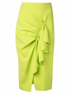 Christian Siriano ruffled trim pencil skirt - Green