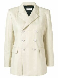 Saint Laurent double-breasted blazer jacket - Neutrals