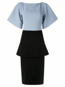 Christian Siriano formal peplum tube dress - Blue
