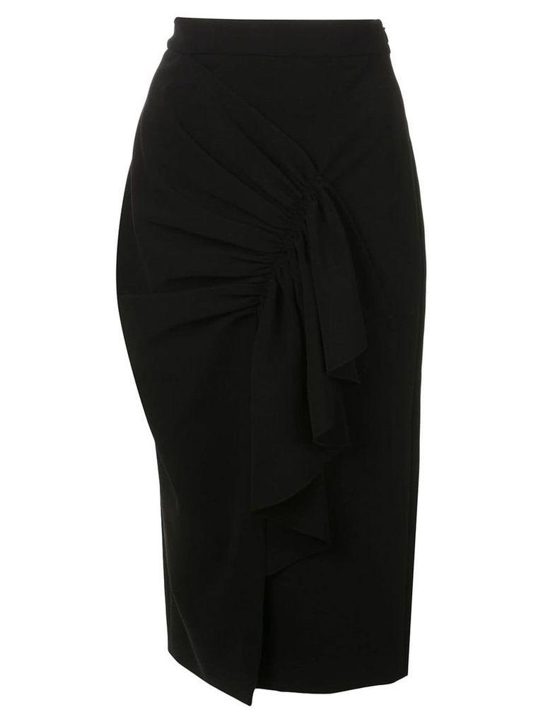Christian Siriano constructed pencil skirt - Black