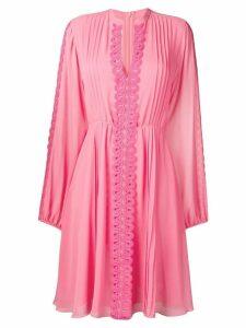 Giamba embroidered detail dress - Pink