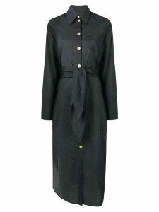 Nanushka Nata belted shirt dress - Black