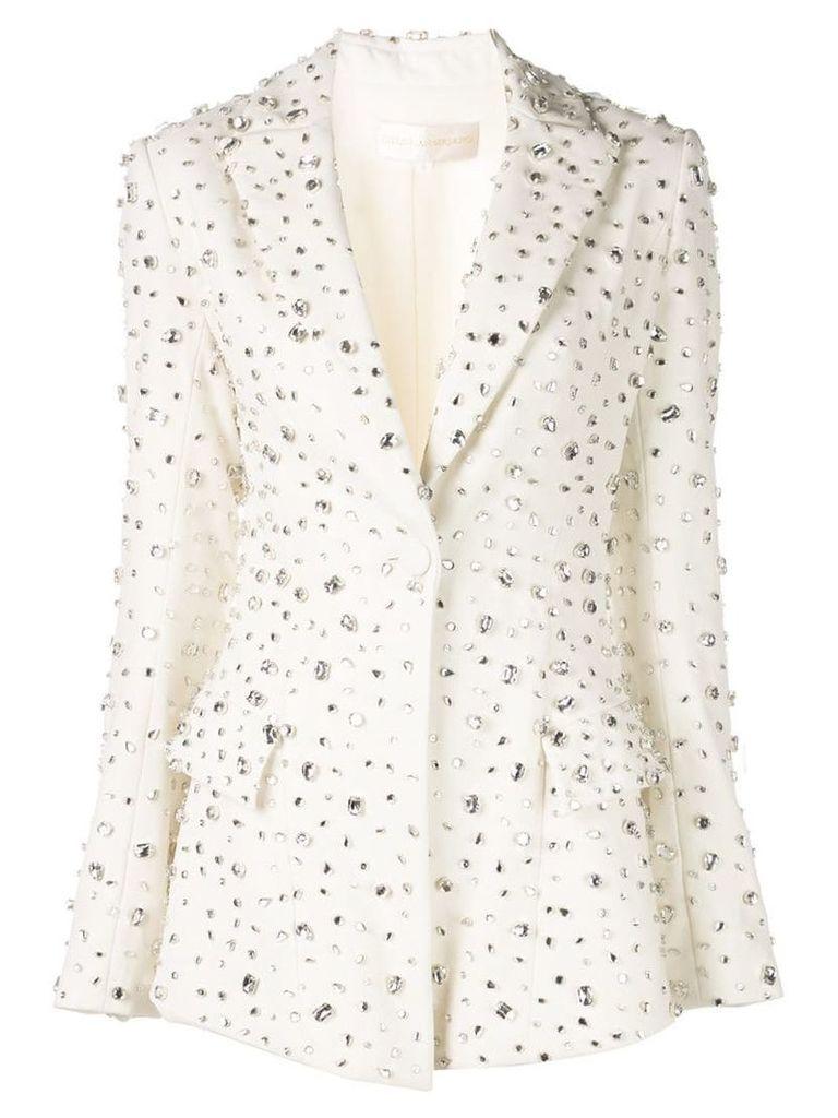 Christian Siriano embellished formal blazer - White