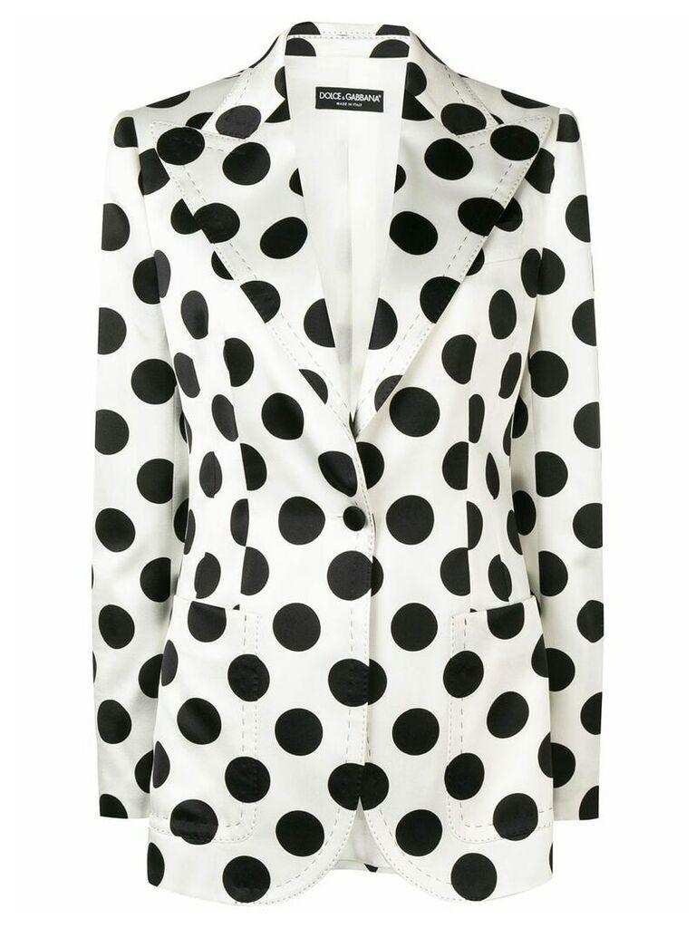 Dolce & Gabbana polka-dot blazer - White
