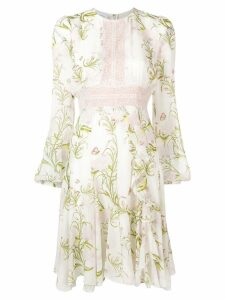 Giambattista Valli Leaf print dress - Neutrals