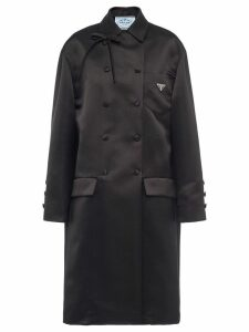 Prada Double satin coat - Black