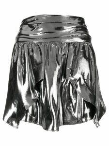 Isabel Marant high waist draped skirt - Silver