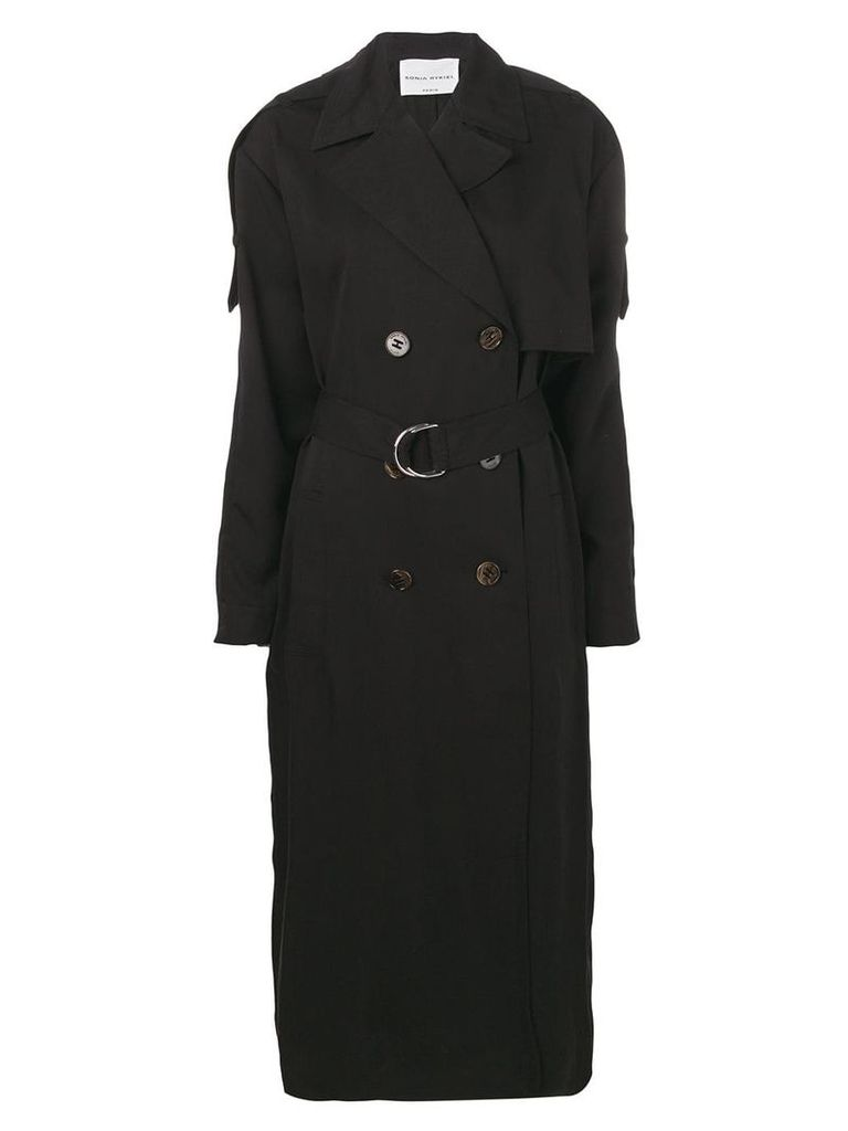 Sonia Rykiel belted trench coat - Black
