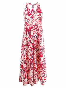 Alysi printed midi dress - White