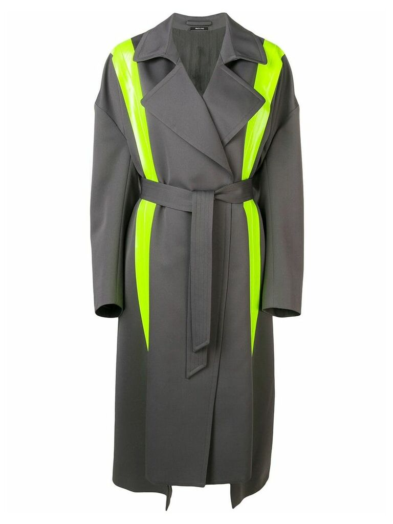 Maison Margiela fluorescent panels trench coat - Grey