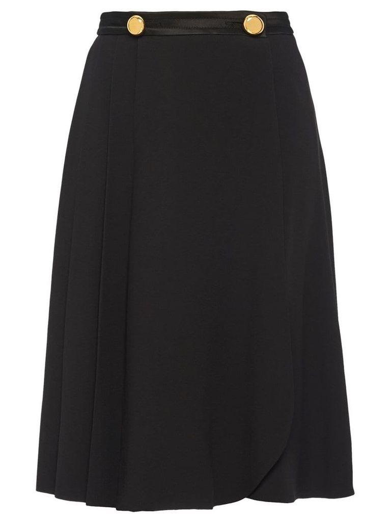 Prada wrap pleated skirt - Black