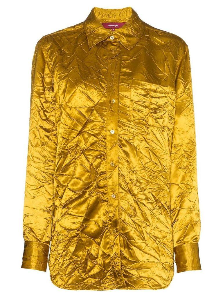 Sies Marjan Sander crinkle effect shirt - Yellow