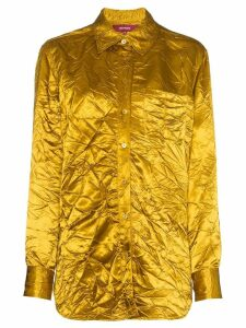 Sies Marjan Sander crinkle effect shirt - Yellow