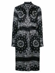 Amiri bandana print shirt dress - Black