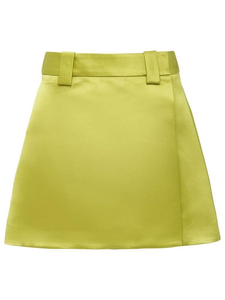 Prada double satin skirt - Green